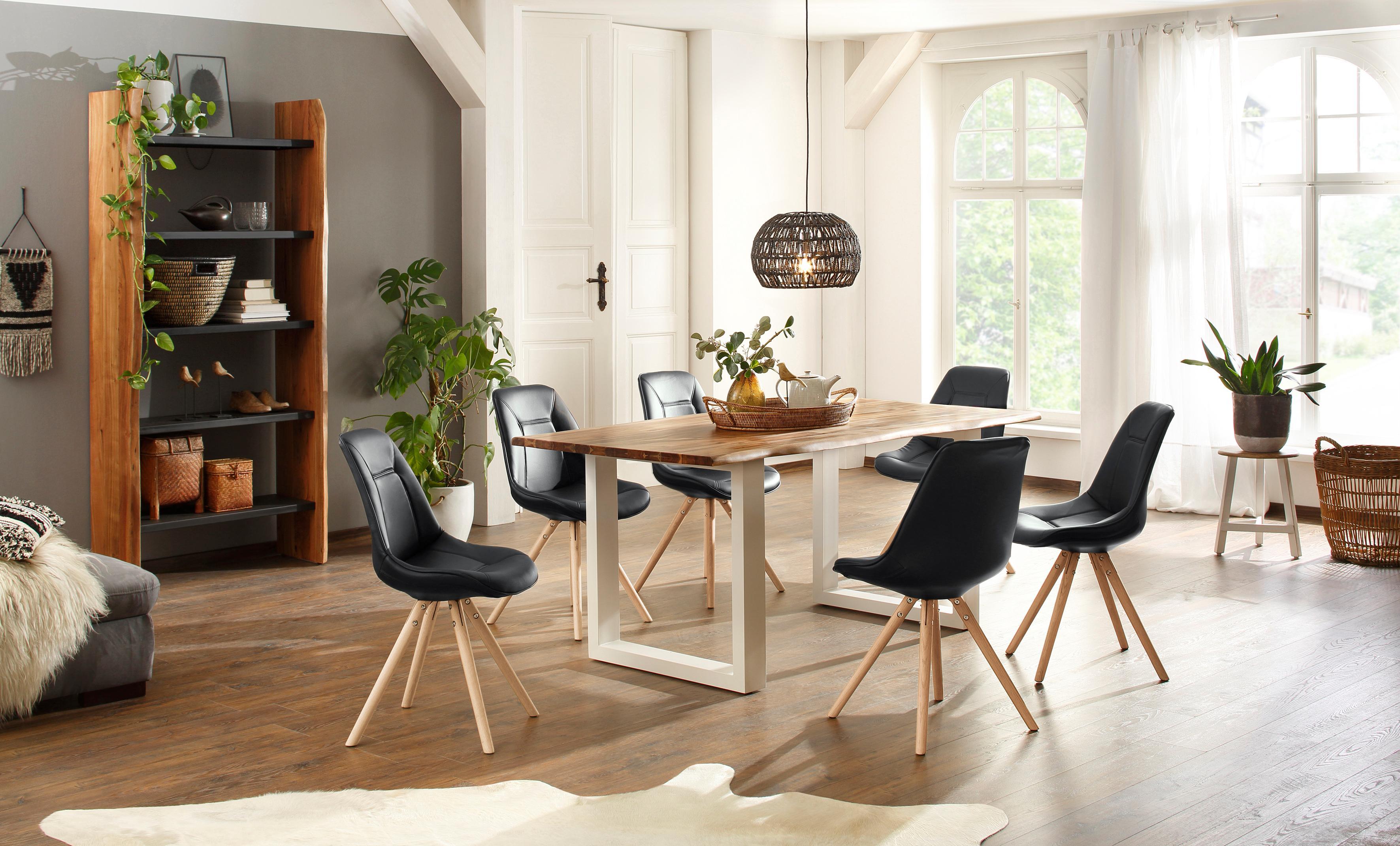 Home affaire Essgruppenset Tunis (7-tlg) bestehend aus dem Esstisch Melody und sechs Stühlen Maitland