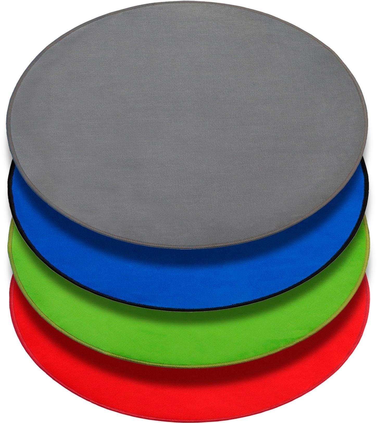 Primaflor-Ideen in Textil Kinderteppich SITZKREIS, rund, 5 mm Höhe, Spielteppich ideal im Kinderzimmer blau Kinder Spielteppiche Kinderteppiche Teppiche