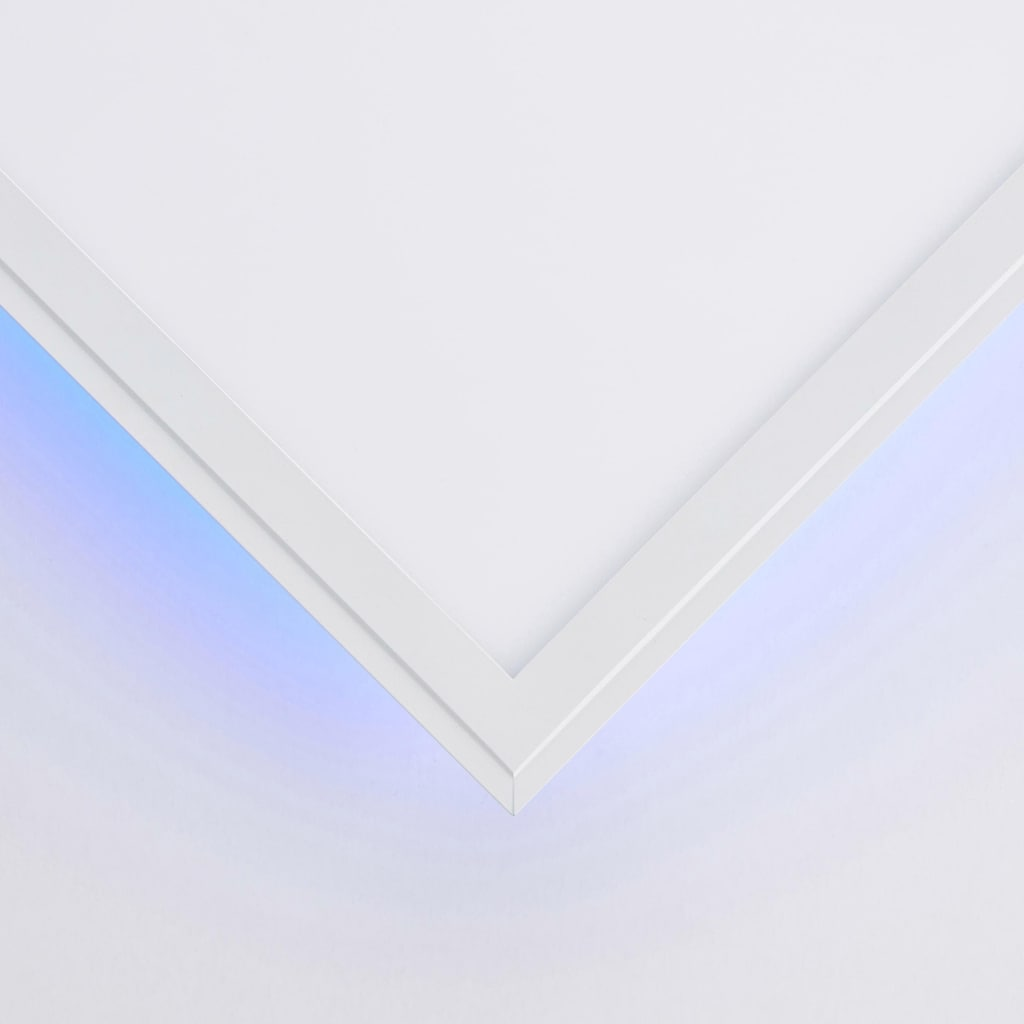 my home LED Panel »IAN«, LED-Board, Kaltweiß-Neutralweiß-Tageslichtweiß-Warmweiß, flache Deckenlampe 120 x 30 cm, dimmbar, CCT Farbtemperatursteuerung (2700K - 6500K), RGB Backlight, inkl. Fernbedienung, Nachtlichtfunktion