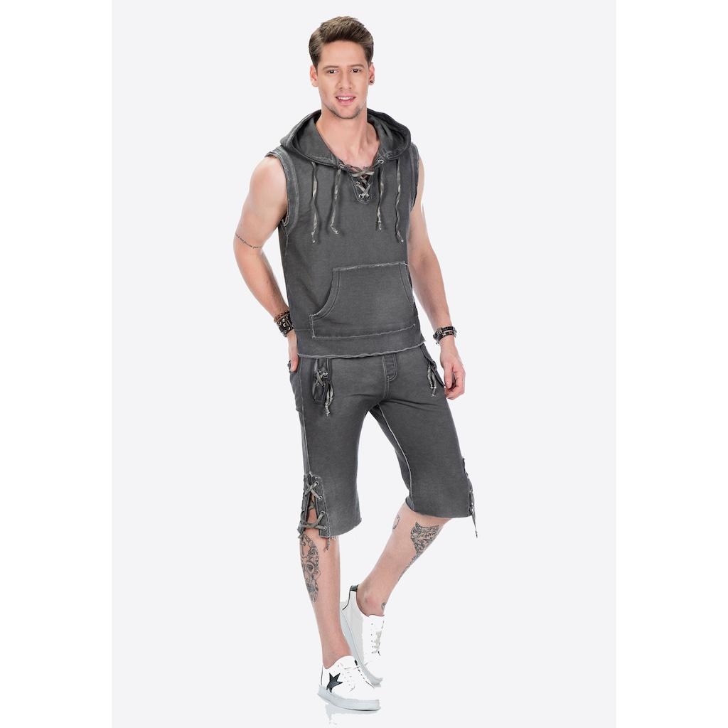 Cipo & Baxx Kapuzensweatshirt, in ärmellosem Design