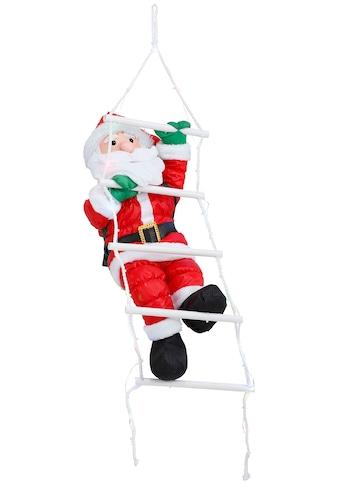 BONETTI LED Dekofigur »Weihnachtsmann kletternd mit Leiter«, 1 St., RGB, mit 30 bunten... kaufen