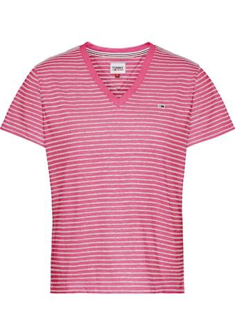 Tommy Jeans V-Shirt »TJW Regular Linen V-Neck Tee«, im schmalen Ringeldessin & Tommy... kaufen
