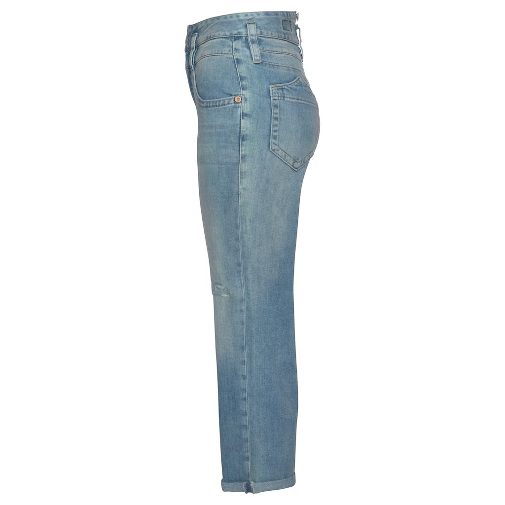 Herrlicher High-waist-Jeans »PITCH HIGH TAP«, mit Destroyed Effekten