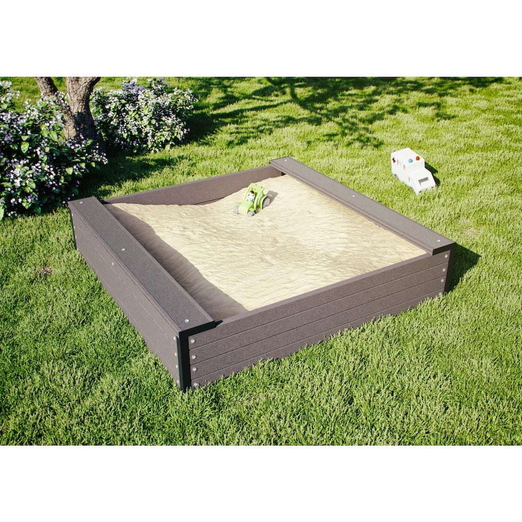 Kiehn-Holz Sandkasten BxTxH: 120x120x27 cm