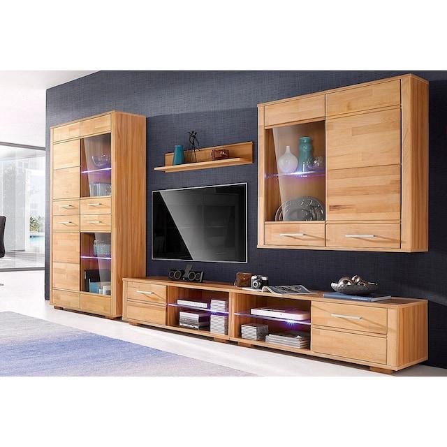 Woltra Wohnwand »Sandra«, (Set, 5 St.), teilmassives Holz
