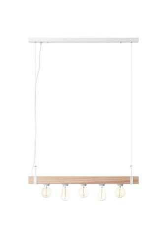 Brilliant Leuchten White Wood Pendelleuchte 5flg beton/holz hellweiß kaufen