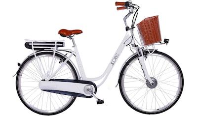 LLobe E-Bike »White Motion 2.0, 15,6Ah«, (mit Fahrradkorb) kaufen