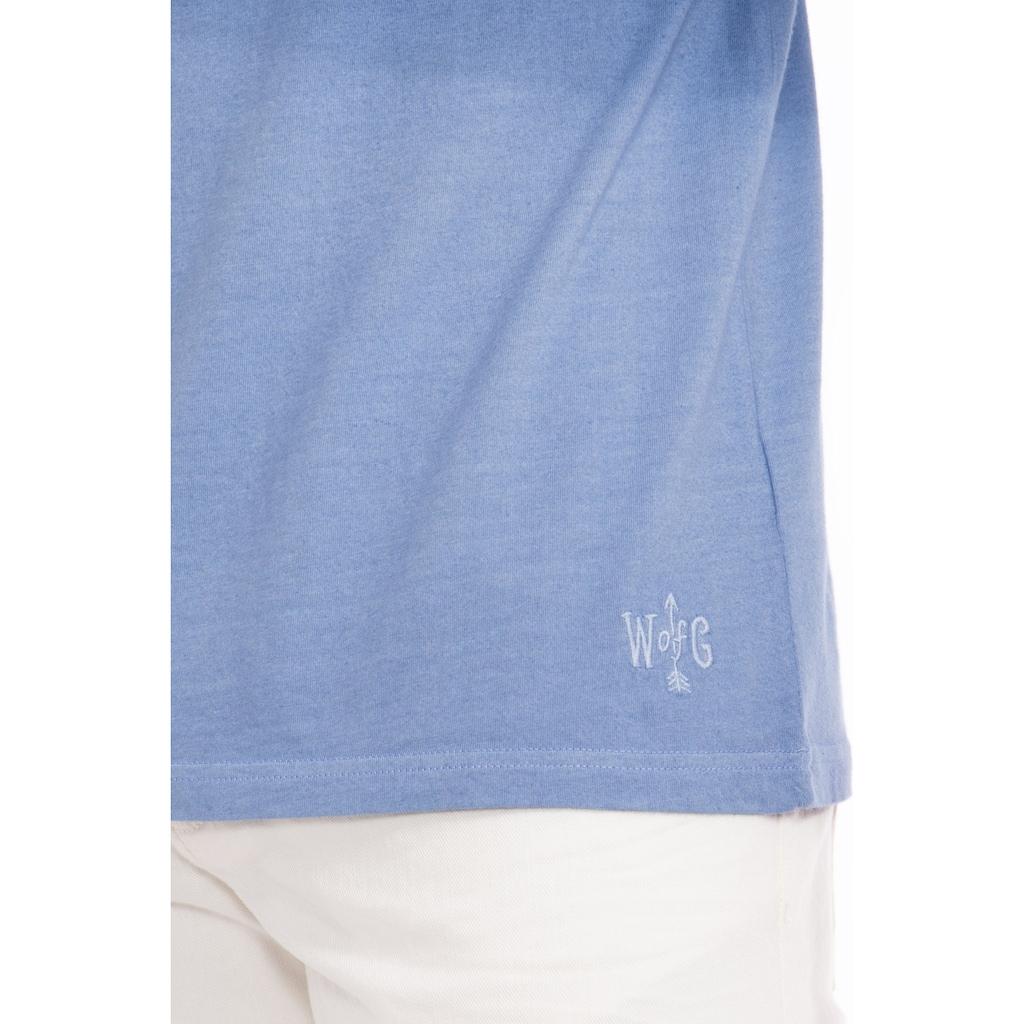 Way of Glory T-Shirt, Round neck mit Dip Dye Effekt