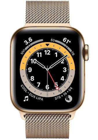 Apple Series 6 GPS + Cellular, Edelstahlgehäuse mit Milanaise Armband 40mm Watch (Watch OS) kaufen