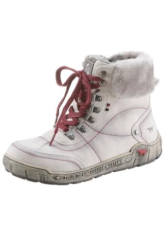Mustang Shoes Winterboots, mit Fellimitat-Kragen, bequeme Form kaufen