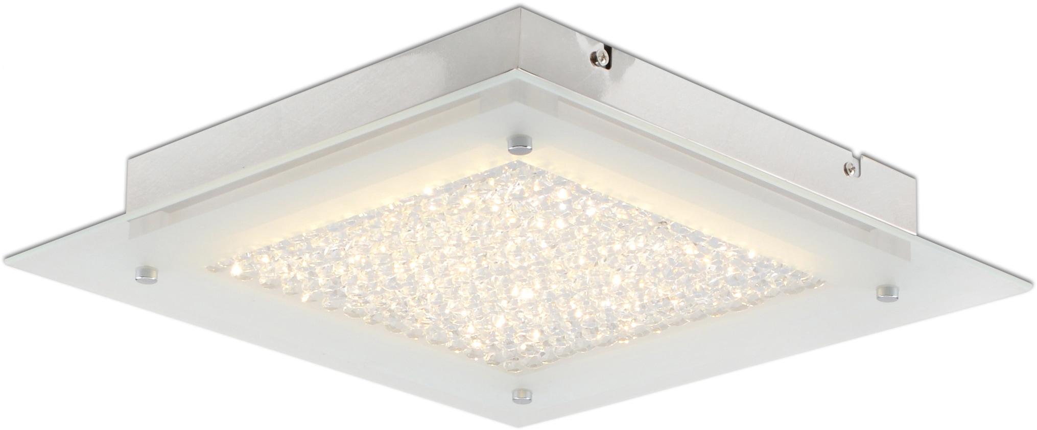 näve LED Deckenleuchte Kristall, LED-Board, Warmweiß, LED Deckenlampe