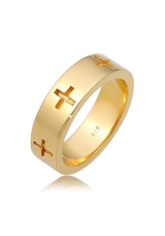Elli Fingerring »Kreuz Cut Out Bandring Religiös Glaube 925 Silber« kaufen