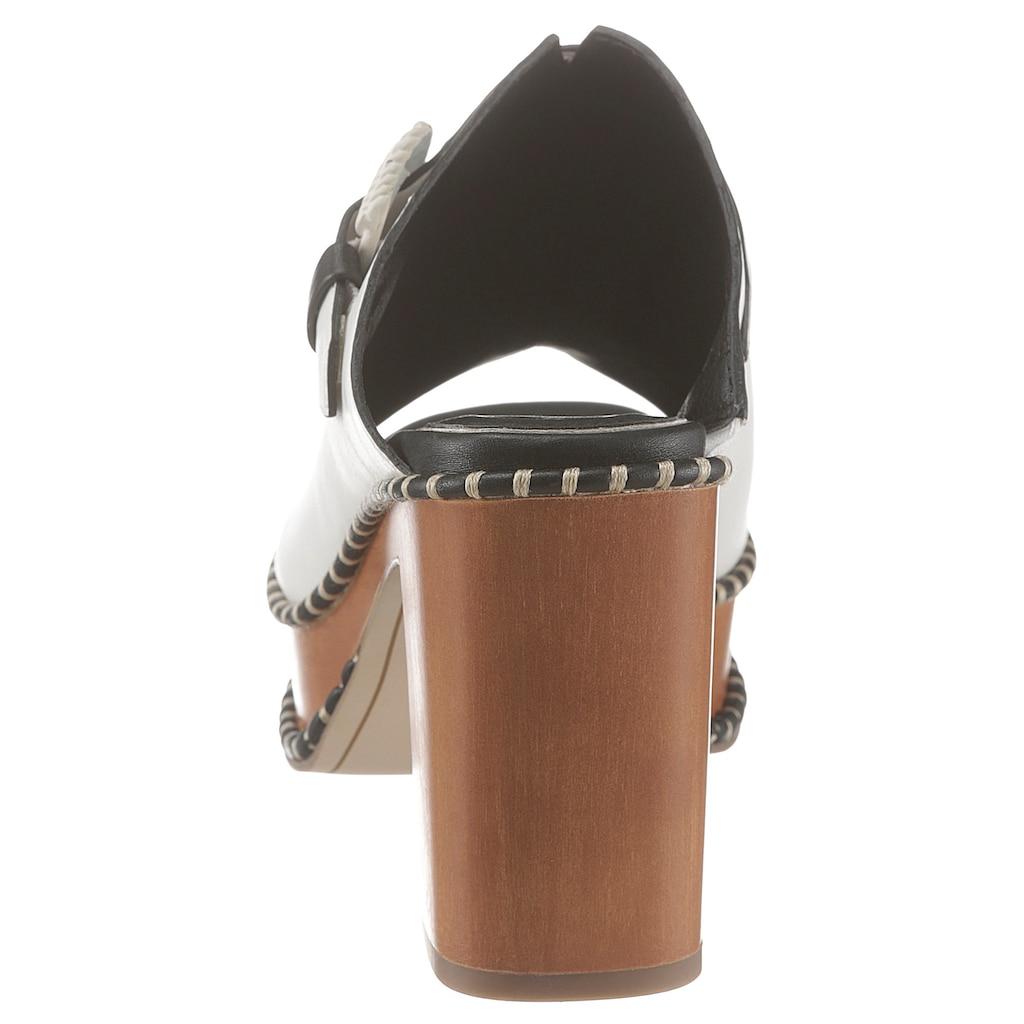 Tamaris High-Heel-Pantolette »Claudie«, im trendigen Retro-Look