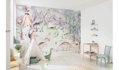 Komar Fototapete »Dino Playground«, bedruckt-Comic-Retro-mehrfarbig, BxH: 400x280 cm kaufen