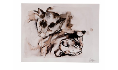 Guido Maria Kretschmer Home&Living Leinwandbild »Katzen-Paar«, von Frank Mutters, gerahmt, Keilrahmen kaufen