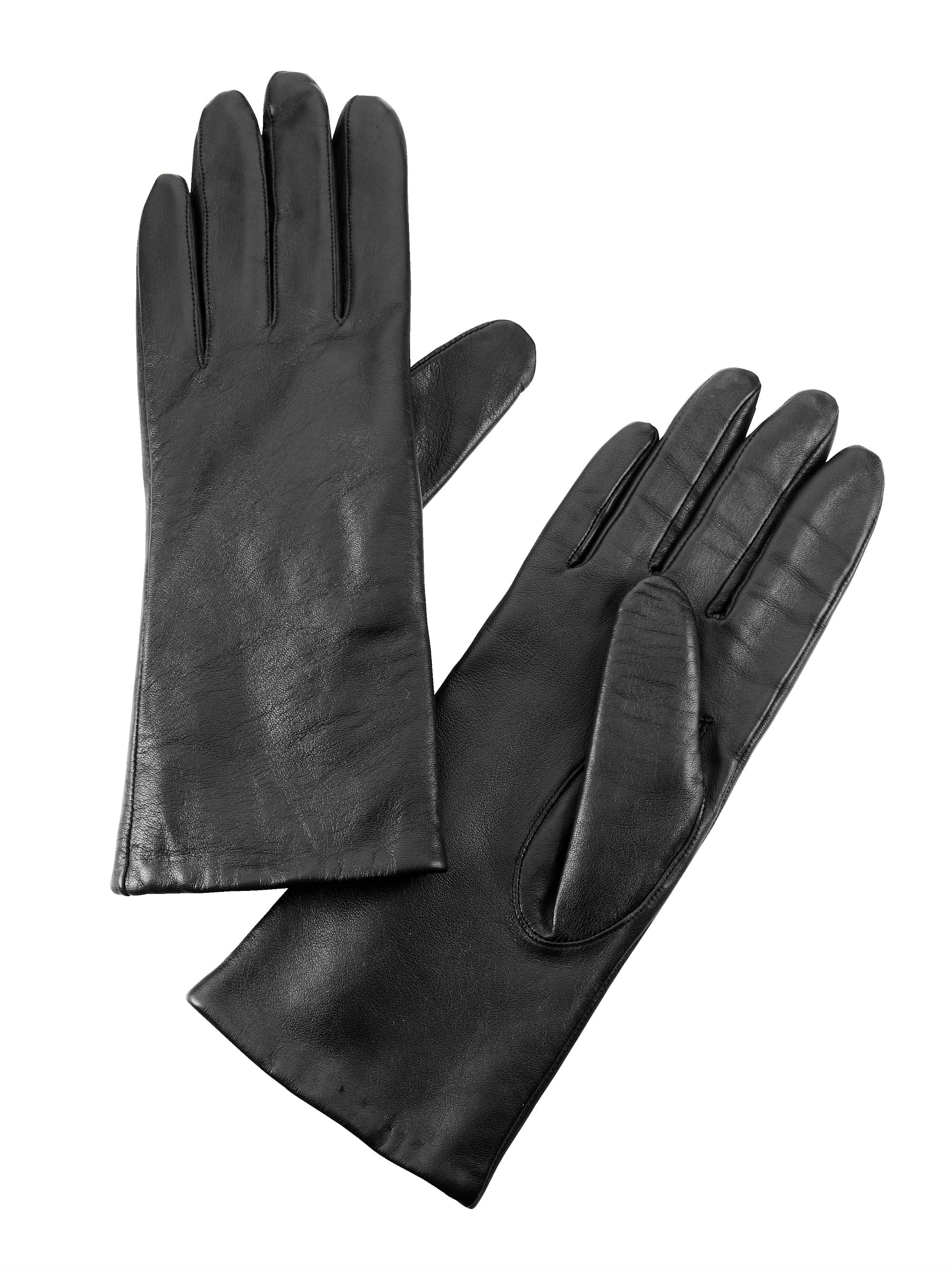 Mona Lederhandschuhe schwarz Damen Fingerhandschuhe Handschuhe Accessoires
