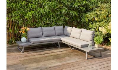 SIENA GARDEN Loungesofa »Larina«, Aluminum, inkl. Auflagen, jeans - grau kaufen