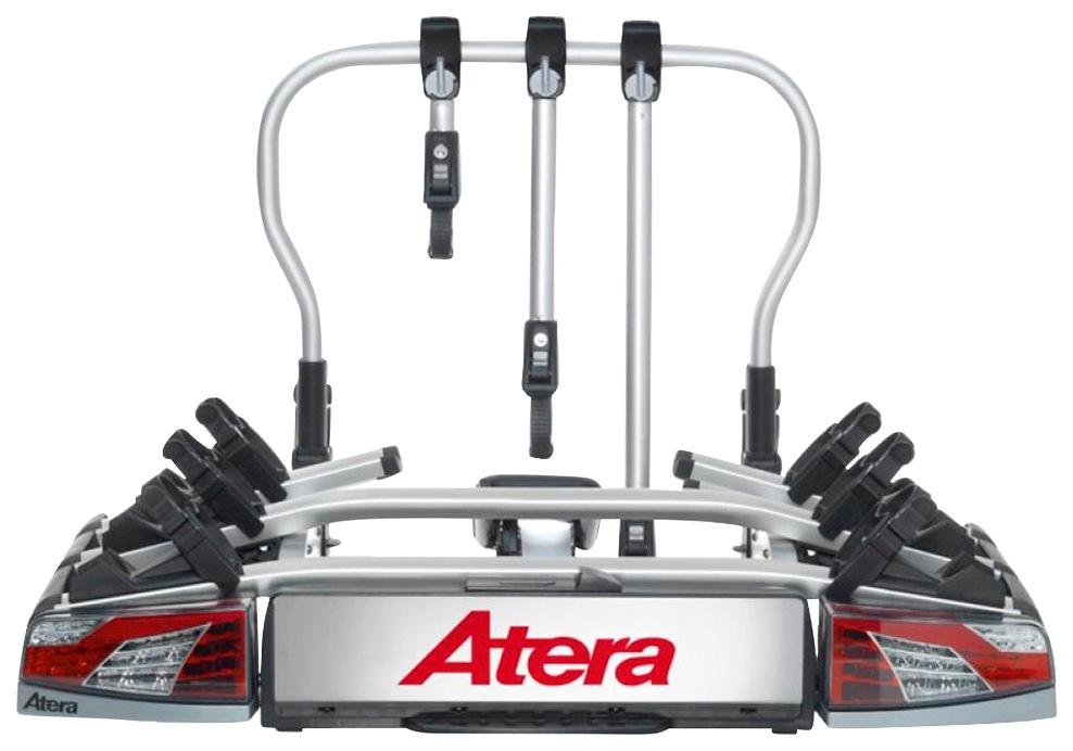 Atera Kupplungsfahrradträger Evo 3, (Komplett-Set) silberfarben Fahrradträger Autozubehör Reifen
