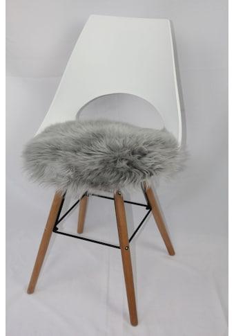 Stuhlkissen, »Sitzauflage Lamm rund«, Heitmann Felle kaufen