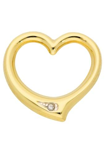 Adelia´s Kettenanhänger »333 Gold Anhänger Swingheart mit Diamant« kaufen