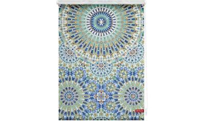 LICHTBLICK Seitenzugrollo »Rollo Klemmfix, ohne Bohren, Verdunkelung, Orientalische Muster - Blau Grün«, verdunkelnd, Verdunkelung, freihängend kaufen