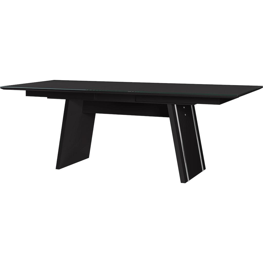 LEONARDO Esstisch »CUBE«, mit synchronem Seilauszug, Breite 160 cm