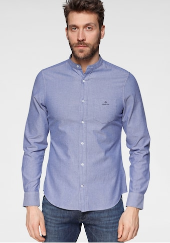 Gant Langarmhemd »SLIM BRUSHED OXF BAND COLLAR«, Stehkragen kaufen