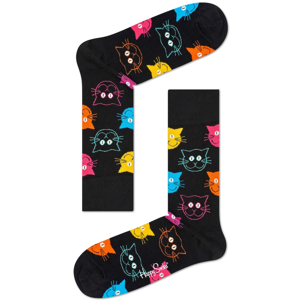 Happy Socks Socken »Cat«, mit bunten Katzengesichtern