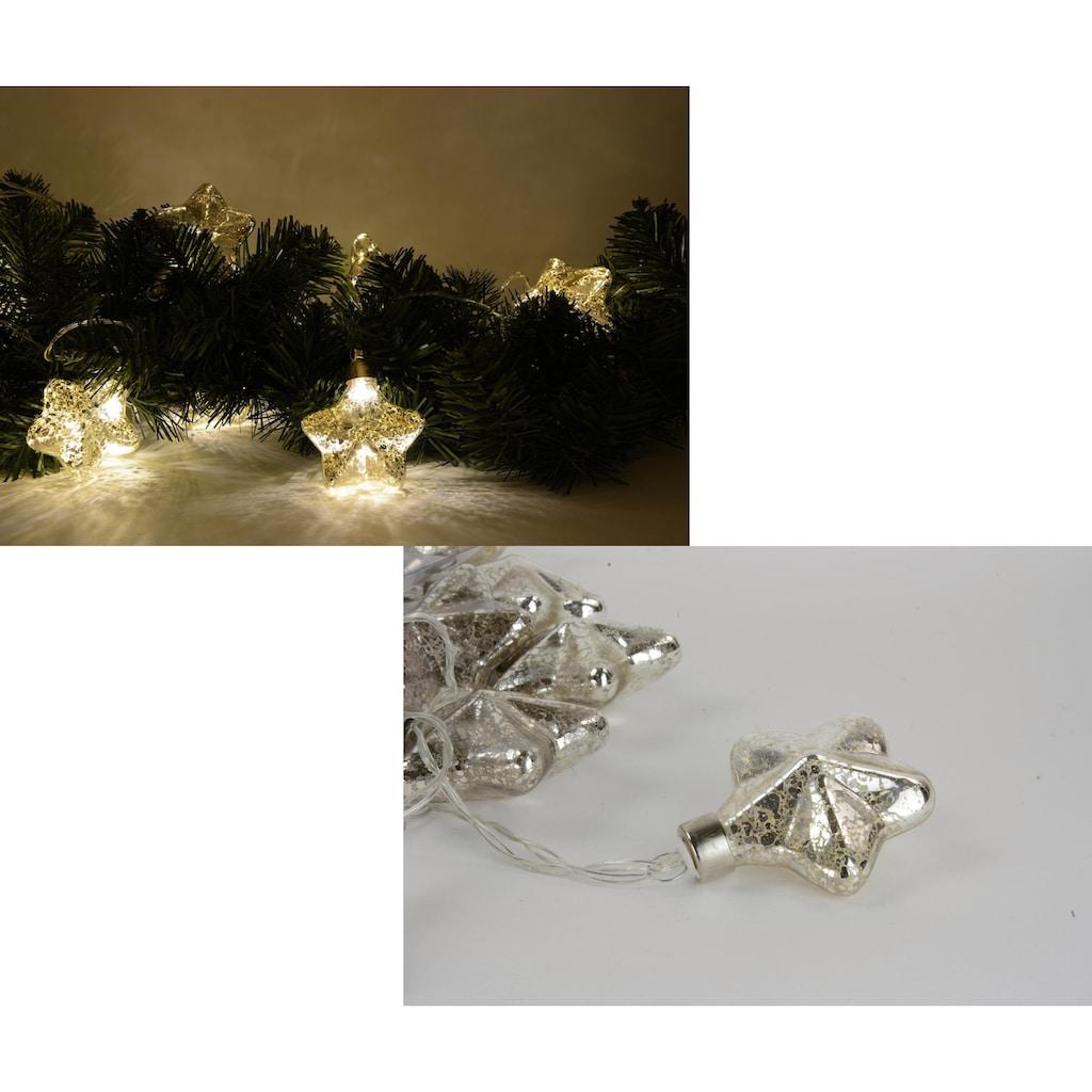 Lichterkette, mit Sterne, Länge ca. 30 cm