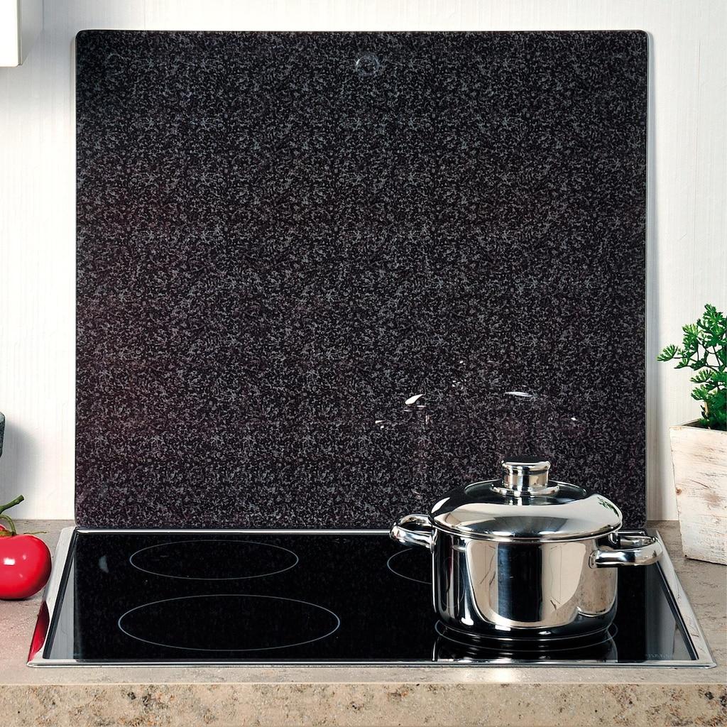 KESPER for kitchen & home Schneide- und Abdeckplatte »Granit«, praktisch unzerbrechlich mit Schiefer-Dekor