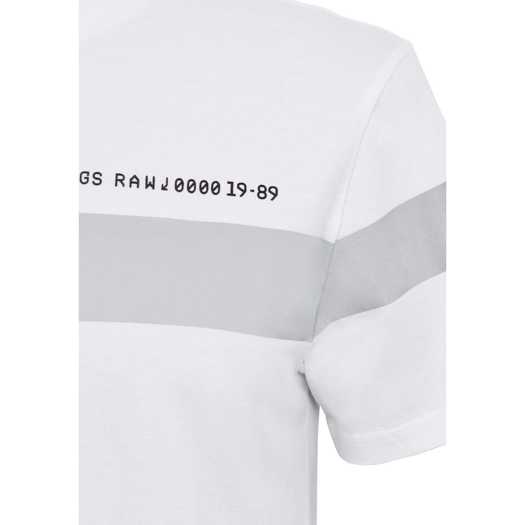 G-Star RAW Rundhalsshirt »Reflective Graphic Tee«