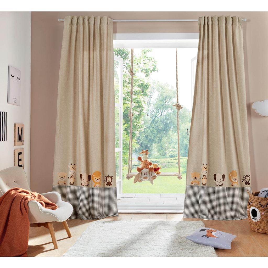 Lüttenhütt Gardine »Tiere«, Kindervorhang