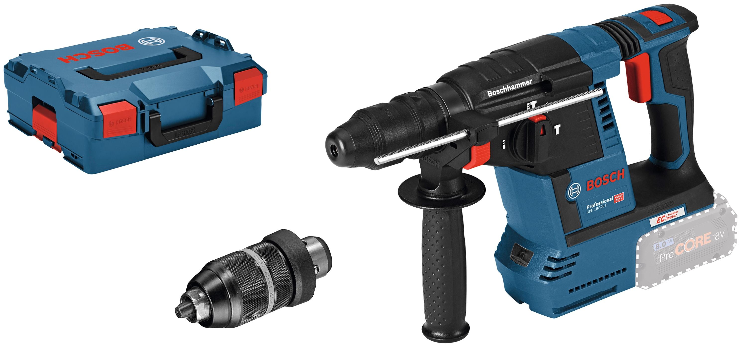 Bosch Professional Akku-Bohrhammer GBH 18V-26 F, ohne Akku und Ladegerät blau Bohrhämmer Werkzeug Maschinen
