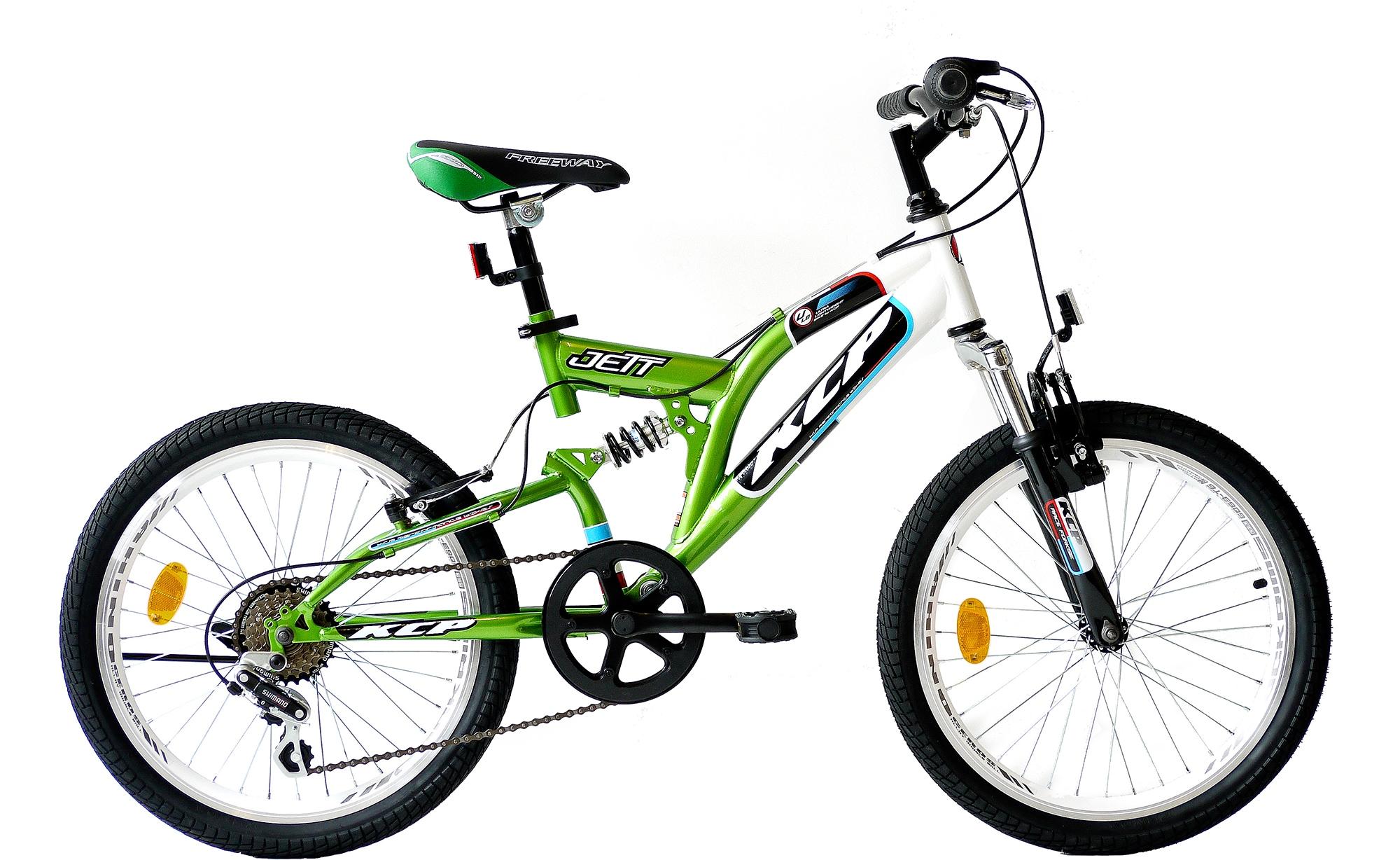 KCP Kinderfahrrad Jett FSF, 6 Gang, Shimano, Tourney RD-TZ500-GS Schaltwerk, Kettenschaltung grün Kinder Kinderfahrräder Fahrräder Zubehör