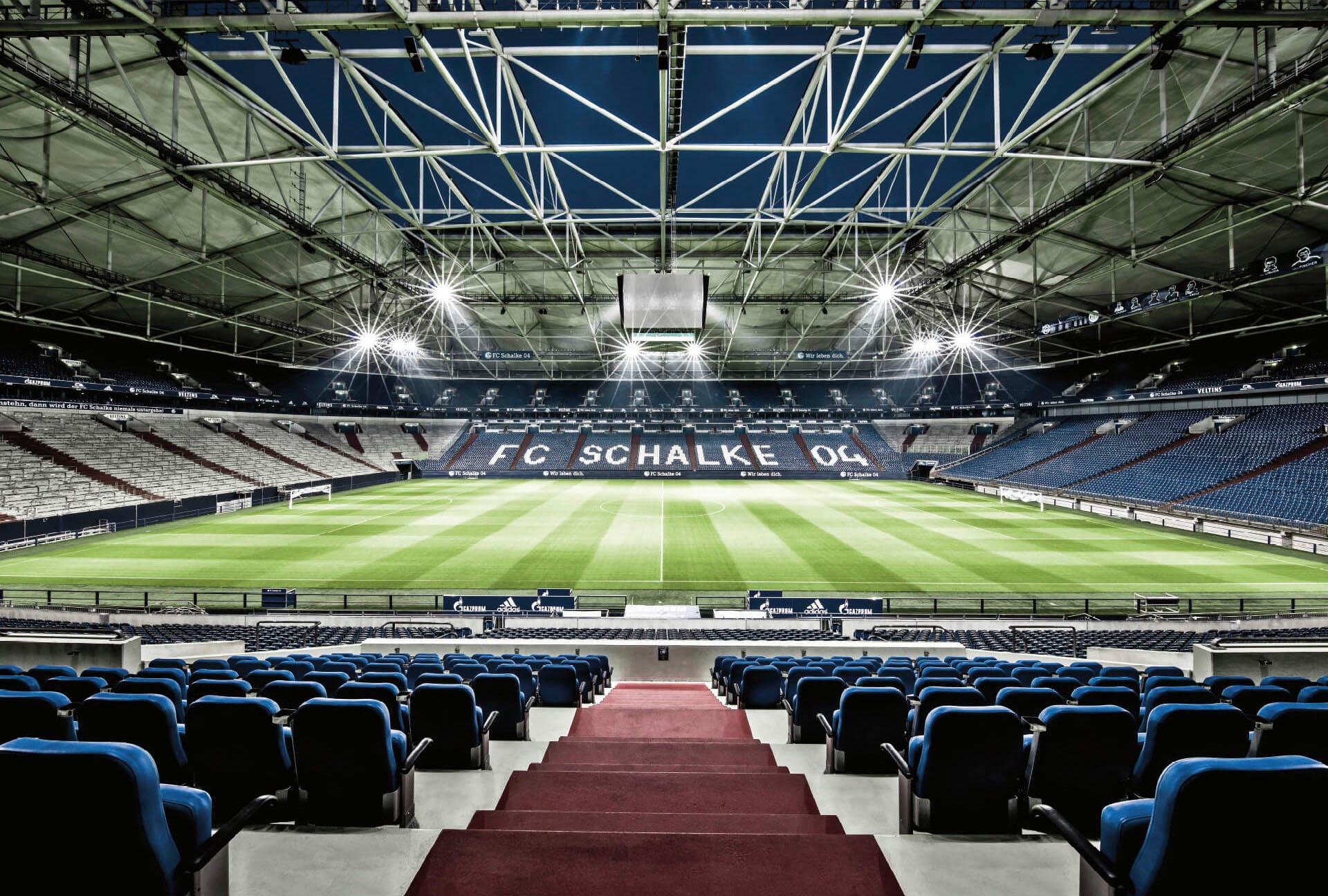 Vliestapete Schalke 04 Arena Tribüne bunt Fototapeten Tapeten Bauen Renovieren