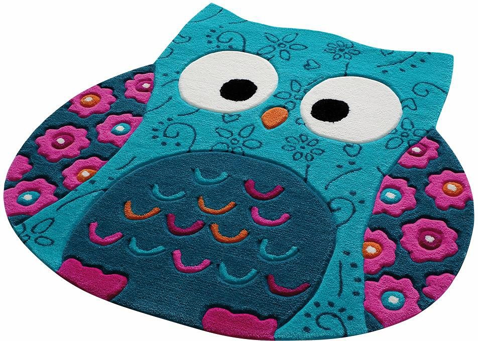 Kinderteppich Little Owl SMART KIDS tierförmig Höhe 10 mm handgetuftet