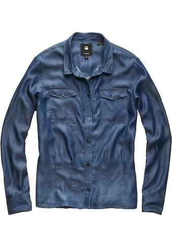 G-Star RAW Jeansbluse »Rovic Pleated Denim Shirt«, mit Brust Pattentaschen kaufen