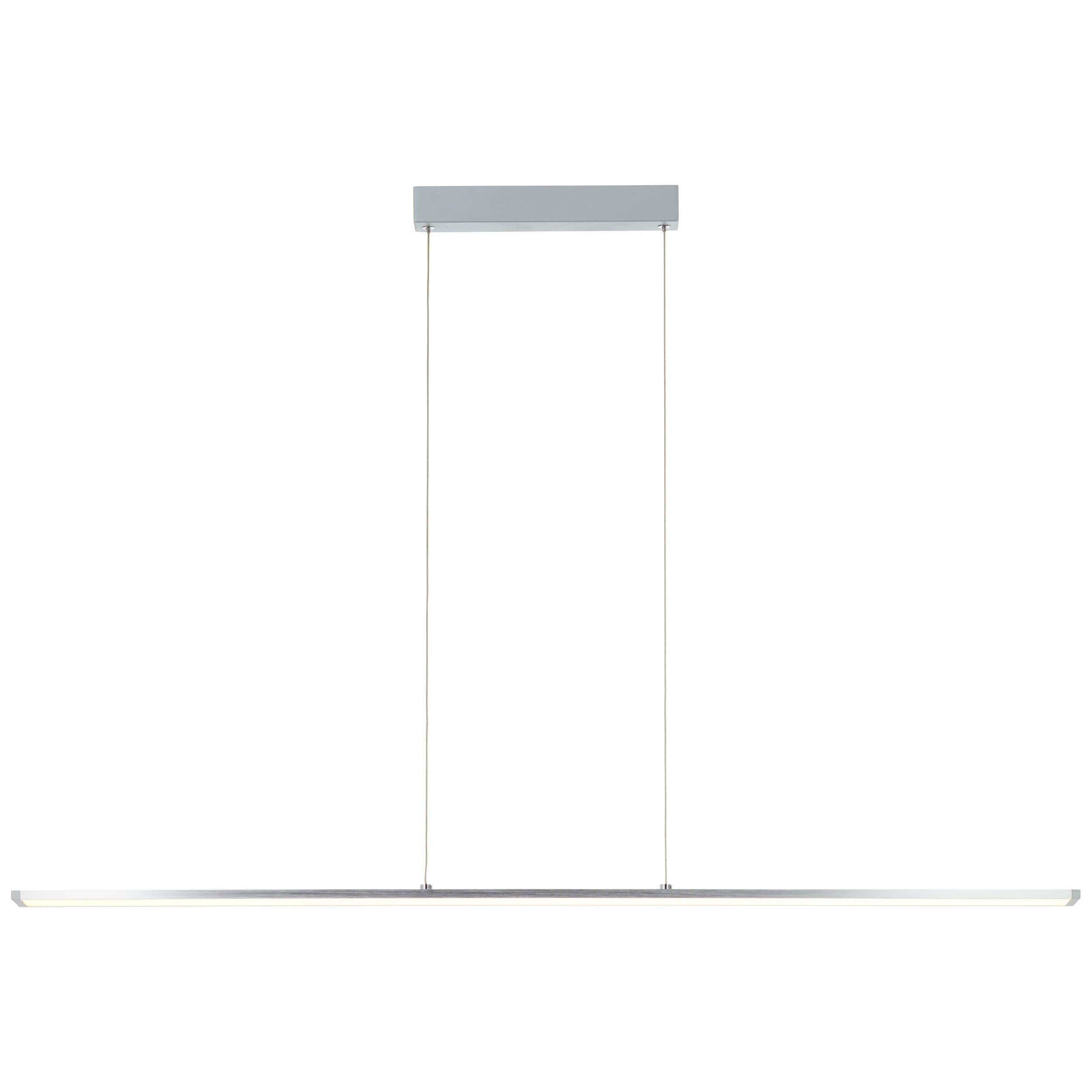 Brilliant Leuchten Deckenleuchten, Warmweiß, Entrance LED Pendelleuchte Paneel 120cm alu/weiß easyDim