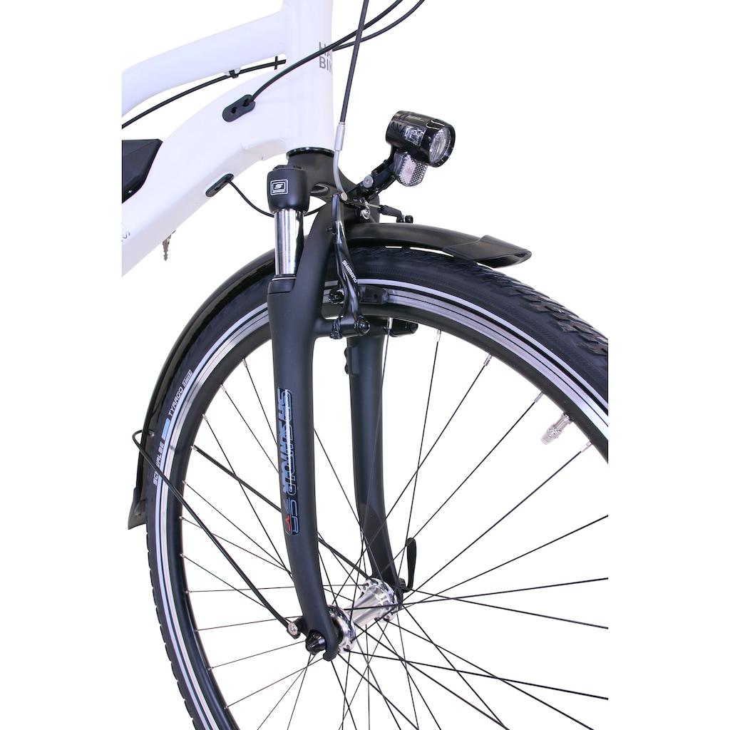 HAWK Bikes E-Bike »HAWK«, 8 Gang, Shimano, Deore, Heckmotor 250 W