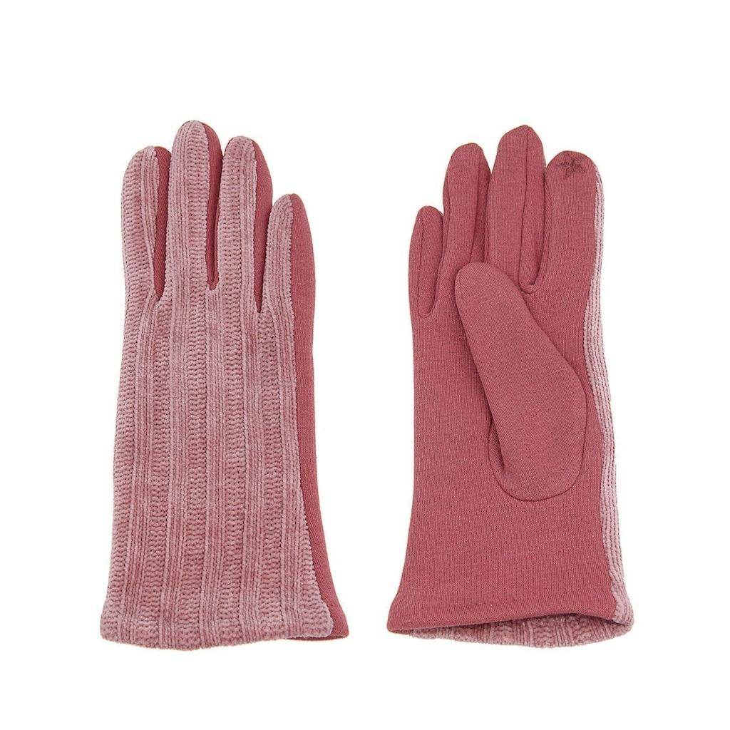 leslii Fingerhandschuhe mit schickem Strickmuster
