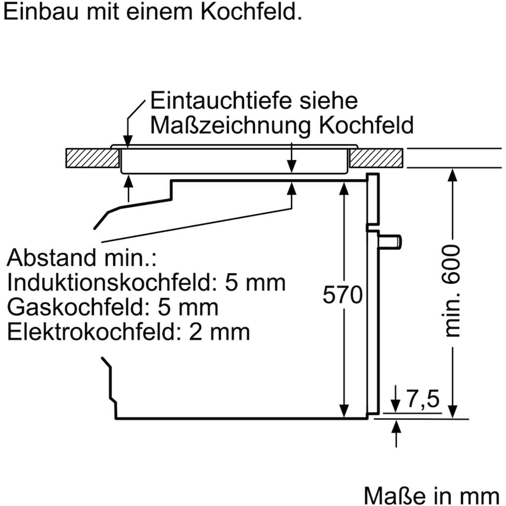 BOSCH Elektro-Herd-Set »HND271VS60«, HEA173BS0, mit Teleskopauszug nachrüstbar, Pyrolyse-Selbstreinigung