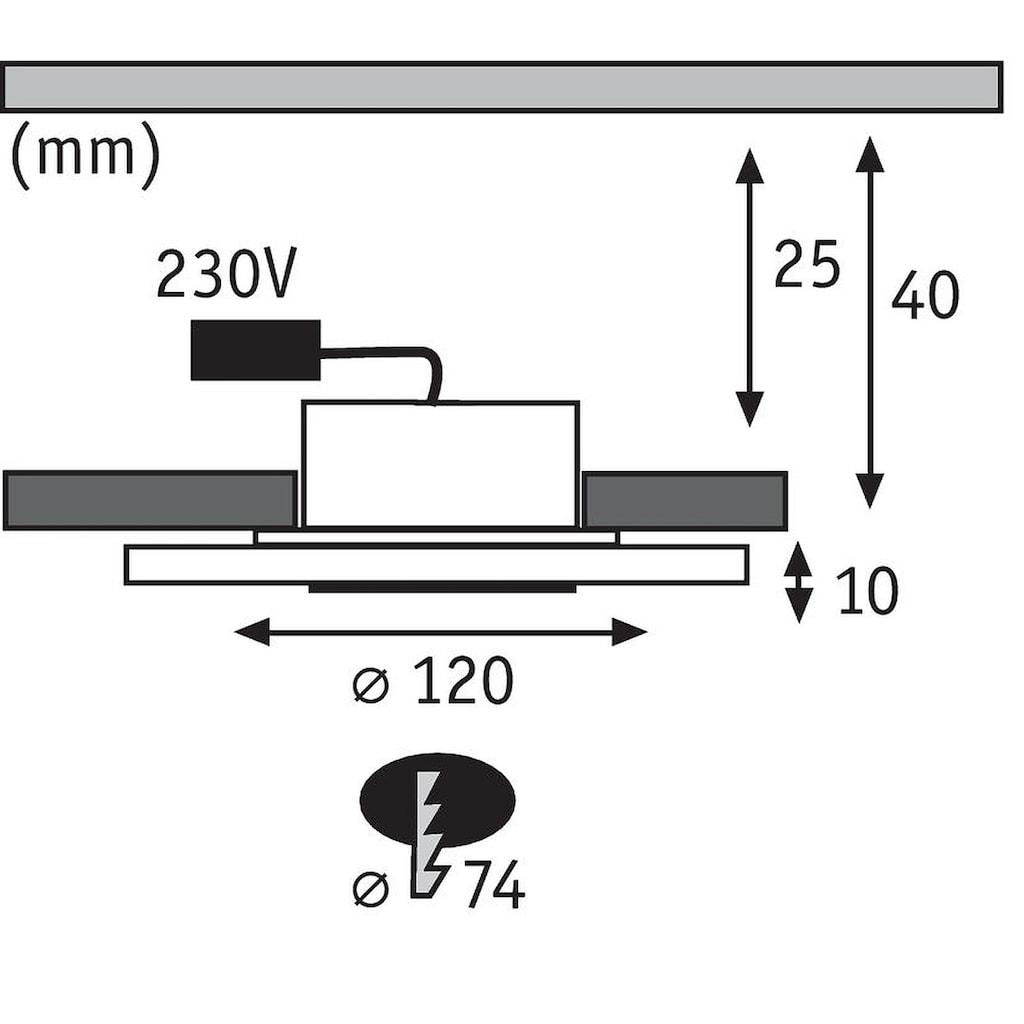 Paulmann LED Einbaustrahler »3er Set Whirl dimmbar rund Alu Satin 5,5W«, 3 St., Warmweiß