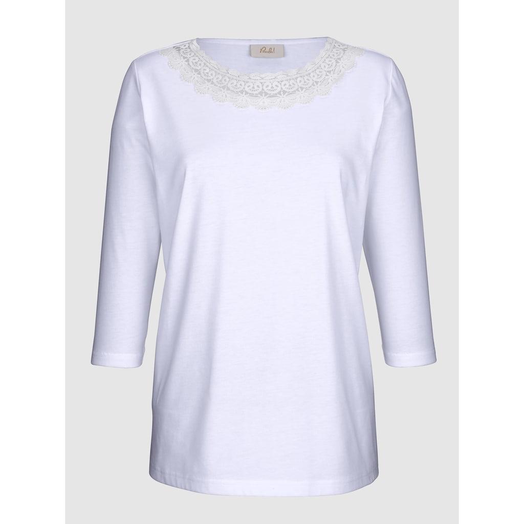 Paola Shirt mit Spitzenapplikation