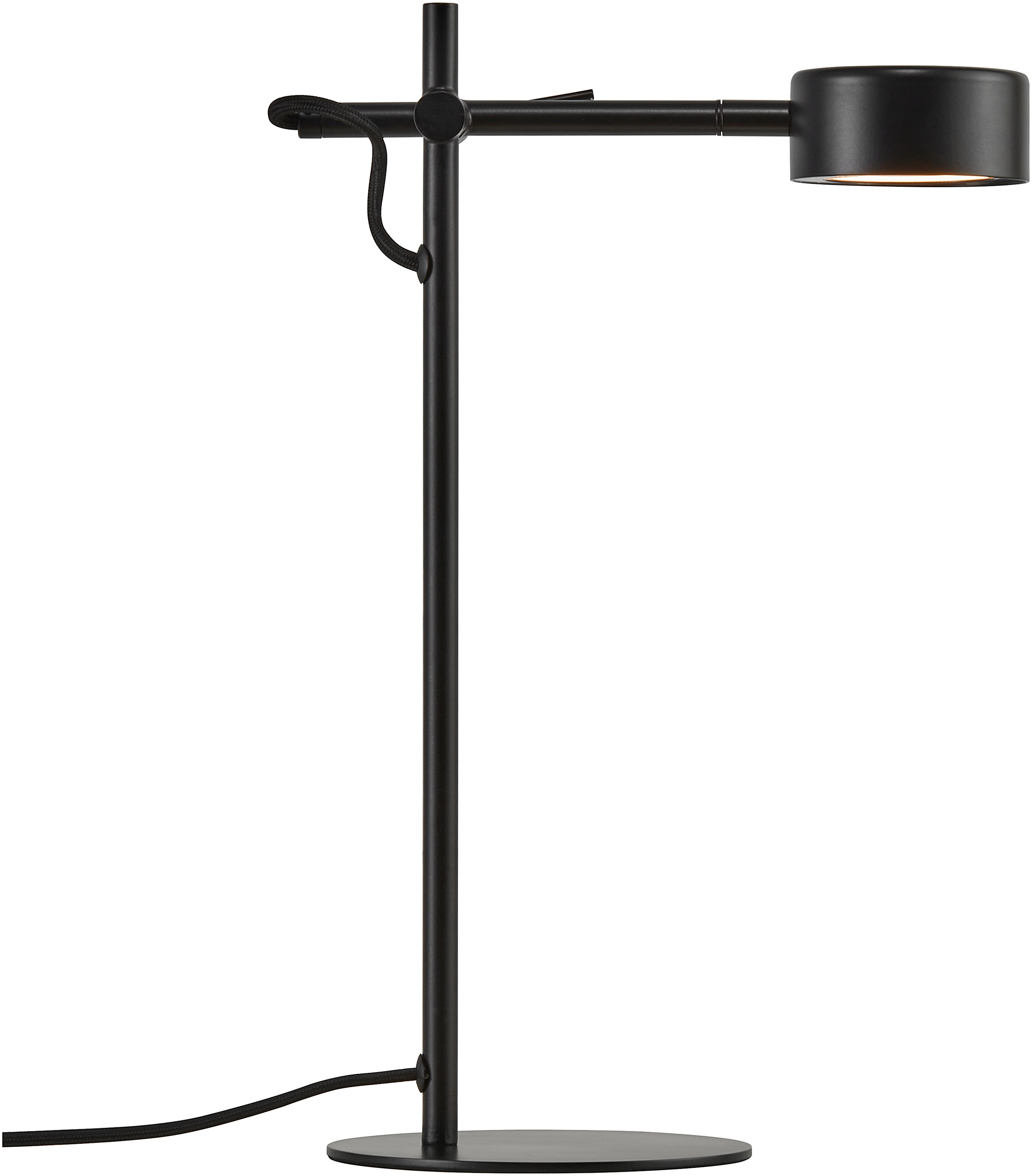 Nordlux LED Tischleuchte CLYDE, LED-Modul, Warmweiß, inkl. LED, inkl. Dimmer für Stimmungslicht, verstellbar, 5 Jahre LED Garantie