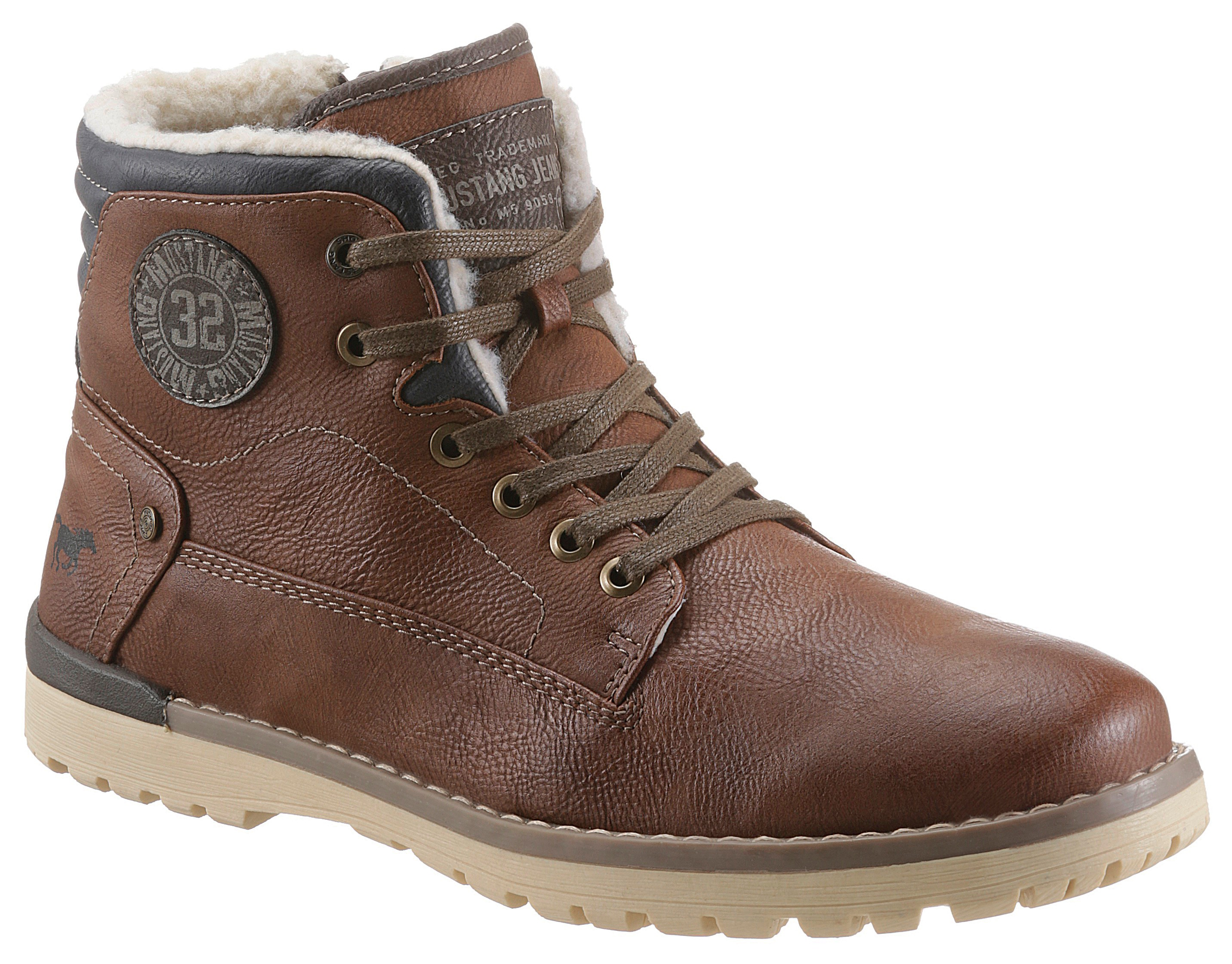 mustang shoes -  Schnürboots, mit Warmfutter