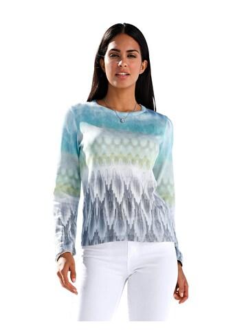 Amy Vermont Rundhalspullover, mit pastelligem Farb- und Musterverlauf kaufen