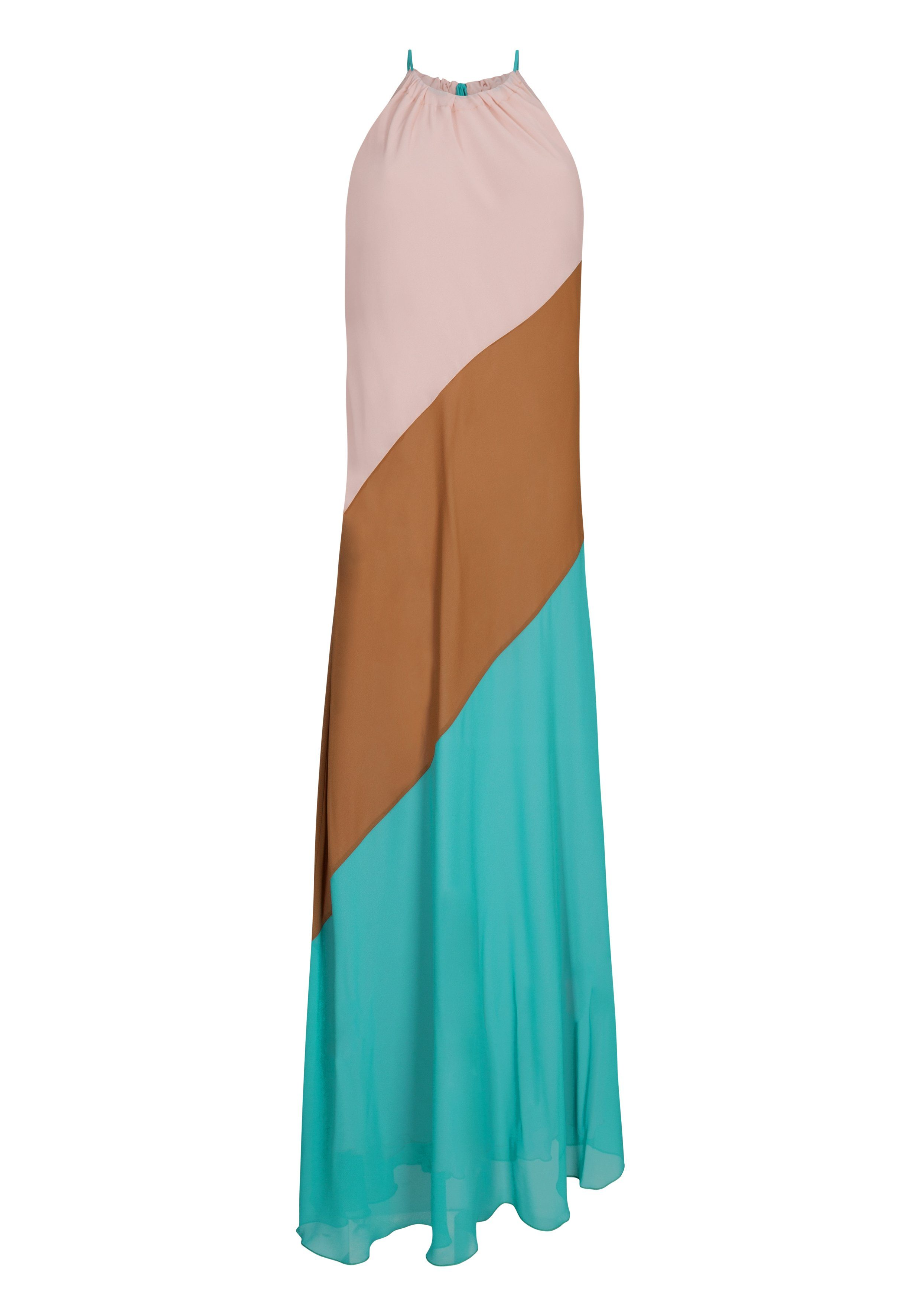 NICOWA Maxikleid VANIA mit Neckholder | Bekleidung > Kleider > Maxikleider | Rosa | Polyester | Nicowa