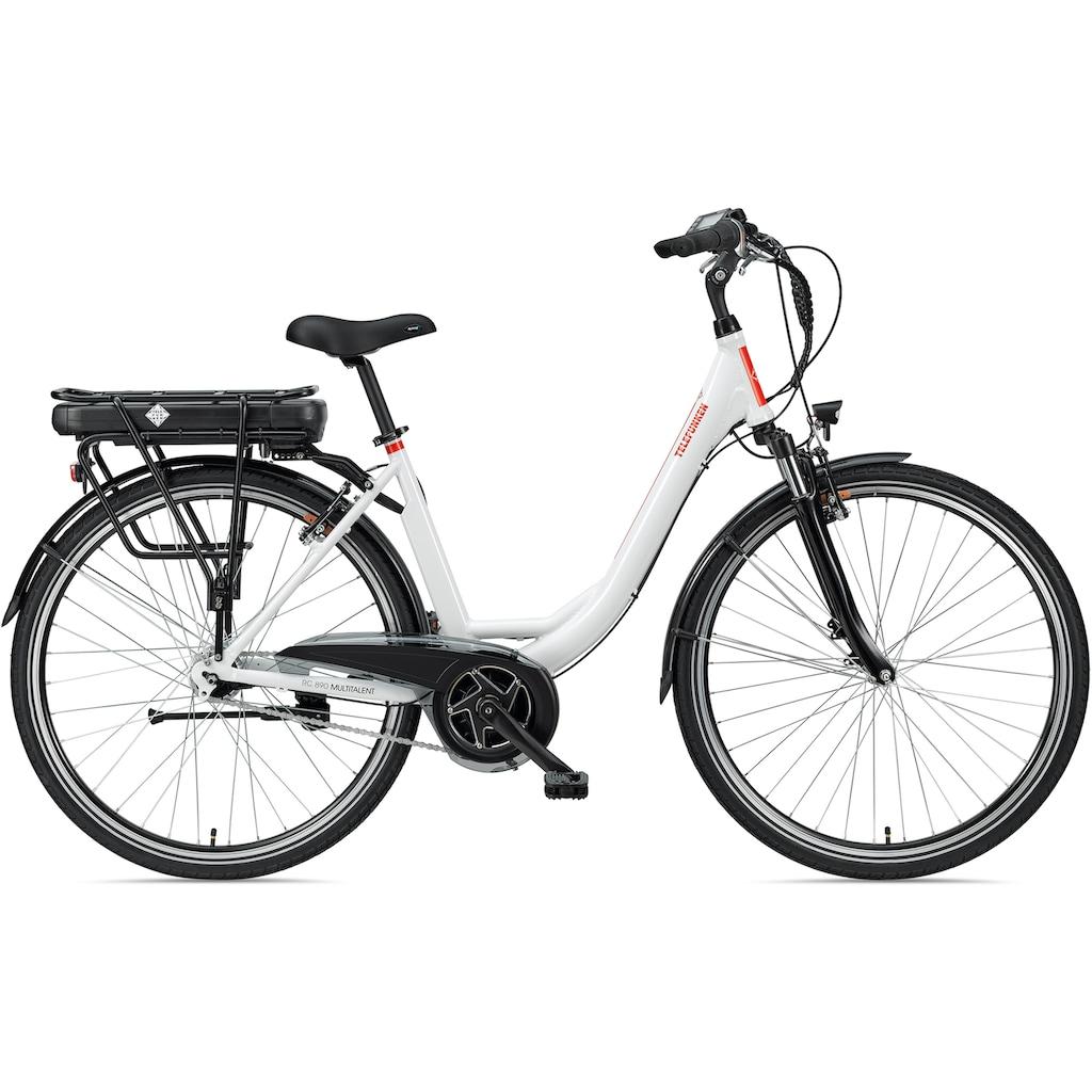 Telefunken E-Bike »Multitalent RC890«, 7 Gang, Shimano, Nexus, Mittelmotor 250 W