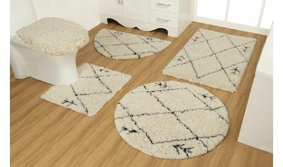 OTTO products Badematte »Hilla«, Höhe 40 mm, strapazierfähig, aus recycelter Baumwolle kaufen