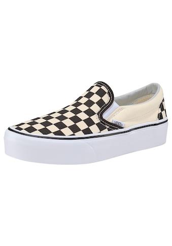 Vans Plateausneaker »Classic Slip - On Platform Checkerboard« kaufen